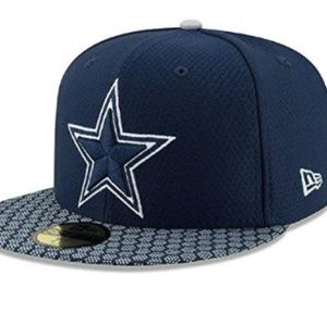 Dallas Cowboys Fitted Sideline Performance Hat New